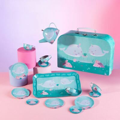 £24.95 • Buy Childrens Tea Party Set   Picnic Narwhal Pretend Play Birthday Playset Suitcase