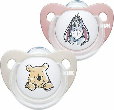 £7.17 • Buy NUK Trendline Baby Dummy 2pcs/ 6-18 Months /BPA-Free Silicone Soothers/Disney