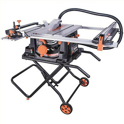 Portable Table Saw - Folding Table Saw - Wheels - 255mm - Extending Table - 240v • 419.99£
