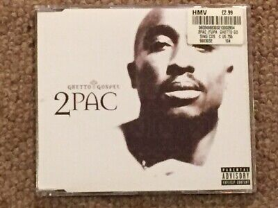 CD Single 2 Pac 'Ghetto Gospel' **AS NEW** • 2.29£