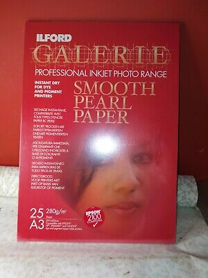Ilford Galerie Smooth Pearl Paper -A3 Plus 25 Sheet  • 19.25£