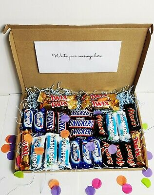 Bounty Mars Twix Chocolate Letterbox Hamper Gift  Personalised Birthday Lockdown • 14.99£