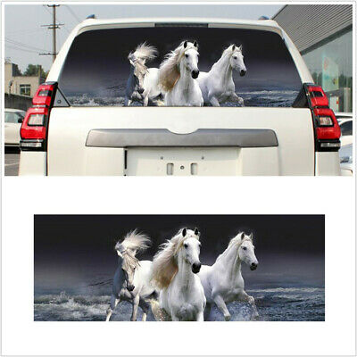 $19.70 • Buy 53x14in Car Rear Window Sticker White Horse Tint Graphic Decal Fit For SUV Truck