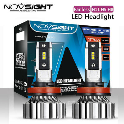 AU34.19 • Buy NOVSIGHT H11 H8 H9 LED Headlight Bulbs KIT White Beam Replace Halogen 8000LM AU