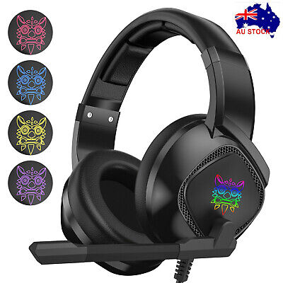 AU26.99 • Buy Gaming Headset Wired LED Headphones With Mic For Xbox One/PS4/PC/Nintendo Switch