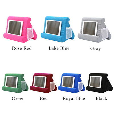 UK Soft Phone Lap Stand IPad Tablet Multi-Angle Phone Cushion Bed Laptop Holder • 7.99£