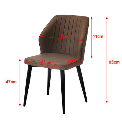 £105.99 • Buy 2pcs PU Faux Leather Dining Chairs Set Metal Legs Restaurant Lounge Dining Chair