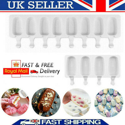DIY Silicone Ice Cream Cake Mold Ice Lolly Baking Frozen Mould Tray Kitchen • 4.78£