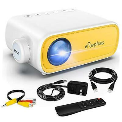 Mini Projector,  Portable Projector For IPhone, Video Smart Led Pocket Yellow • 63.34£