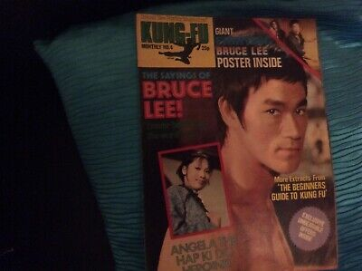 £7 • Buy Kung Fu Monthly Bruce Lee Poster Magazine Issue No.4