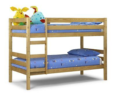 £319.95 • Buy Julian Bowen Wyoming 3ft Single Bunk Bed - Solid Pine Lacquered Finish