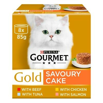 Gourmet Gold Savoury Cake With Meat Multipack Adult Cat Food - 8 X 85g • 7.03£