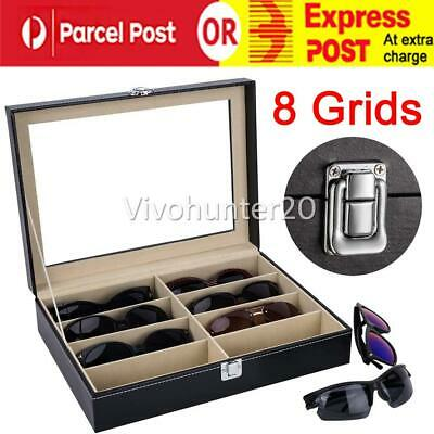 AU21.95 • Buy 8 Grids Sunglasses Eyeglasses Glasses Display Box Case Organizer Holder Storage