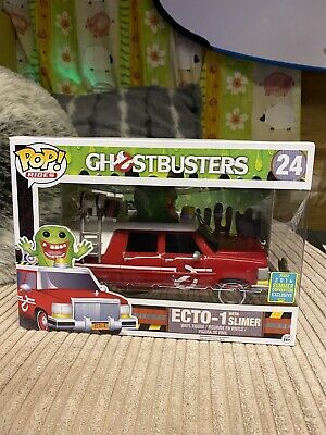 Funko Pop Vinyl Rides ECTO-1 WITH SLIMER 24 GHOSTBUSTERS [2016 SUMMER EXCLUSIVE] • 30£