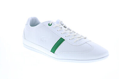 Lacoste Misano 120 1 P CMA Mens White Leather Lifestyle Trainers Shoes • 72.99£