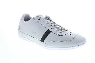 Lacoste Misano 120 1 P CMA Mens Gray Leather Lifestyle Trainers Shoes • 72.99£