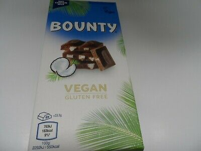 100g  New VEGAN BOUNTY Coconut  Chocolate Bar Easter  Birthday Present • 5.95£