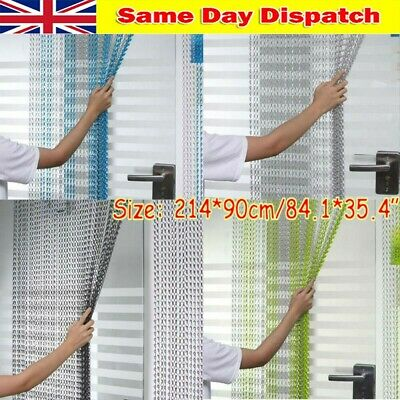 84x35in Chain Curtain Aluminum Door Curtain Metal Chain Fly Insect Blinds Screen • 33.98£