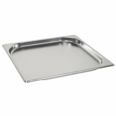 £10.63 • Buy Gastronorm 2/3 Stainless Steel Containers Bain Marie Food Pan FREE DELIVERY