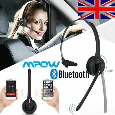 Mpow Over Head Bluetooth Headset Car Office Headphone W/Mic For Calling Skype UK • 21.52£