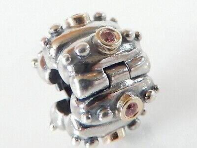 Authentic Pandora Abstract Fusion Clip Silver & Gold 790853CZS Brand New(retired • 135£