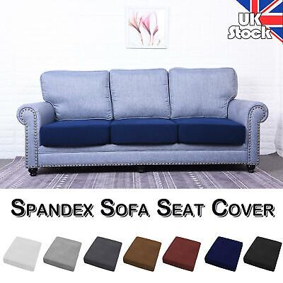 UK Spandex Stretch Sofa Seat 1-4 Seats Cushion Cover Couch Slipcovers Protector • 8.79£