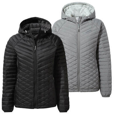 Craghoppers Womens Expolite Hooded Water Repellant Warm Jacket 50% OFF RRP • 59.99£