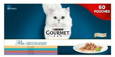 Gourmet Perle Cat Food Chefs Fish And Meat Mixed Collection 60 X 85g • 24.99£