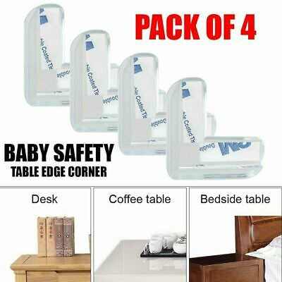 £2.79 • Buy 4PC Clear Rubber Furniture Corner Edge Table Cushion Guard Protector Baby Safty