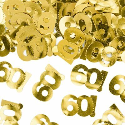Table Confetti 60th Birthday | Gold Number 60 Party Table Decoration • 3.95£