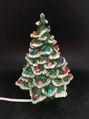 $ CDN31.57 • Buy Vintage Ceramic Christmas Tree With Lights 8