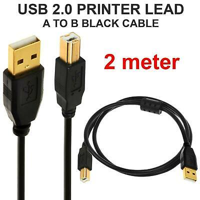 AU4.77 • Buy USB Cable Universal For Printer Brother HP Epson Canon Xerox Male Type A To B UK