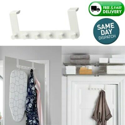 Ikea Enudden Door Over Hooks Hanger 6 Knobs White, Clothes, Bags, Coats  Hooks • 8.50£