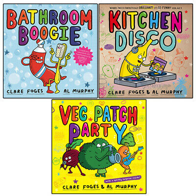 £22.99 • Buy Clare Foges Kitchen Disco 3 Picture Books Children Collection Pack Paperback Set
