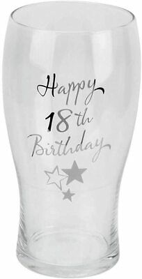 Happy 18TH Birthday Pint Glass With Presentation Gift Box  • 12.99£