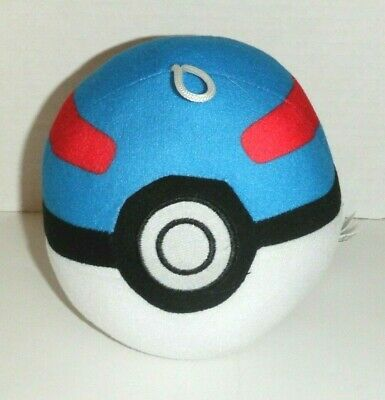 Pokemon Pokeball Superball 5  Blue Ball Plush Beanbag Toy • 6.51£