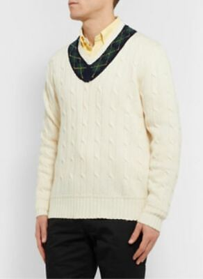 $160 • Buy Polo Ralph Lauren Men's Iconic Cricket Sweater Cream-pre-owned- Large (L) Size