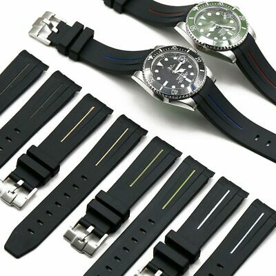 $ CDN28.74 • Buy Silicone Strap Watch Band For Rolex Water Ghost GMT Rubber Waterproof 20mm 21mm