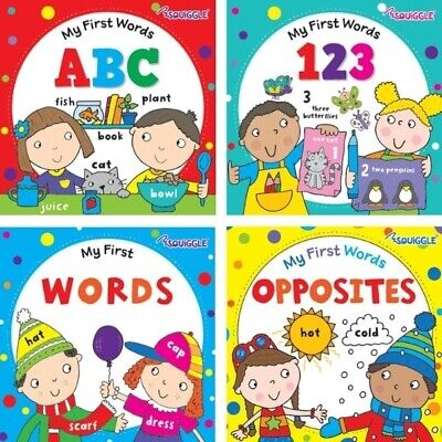 £5.99 • Buy 4 X First Words Books ABC 123 WORDS OPPOSITES Hardback Early Reading Educational