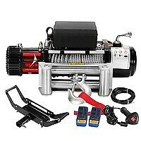 AU505.95 • Buy 6577kg Remote Electric Winch With Steel Cable And Mount 4WD Accessories