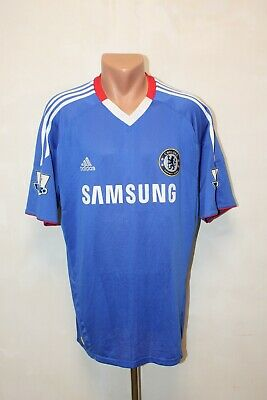 Chelsea Football Shirt Jersey Camiseta Soccer 2010 2011 Home Size L Adult Mens • 44.99£