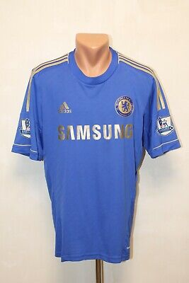 Chelsea Football Shirt Jersey Camiseta Soccer 2012 2013 Home Size L Adult Mens • 39.99£