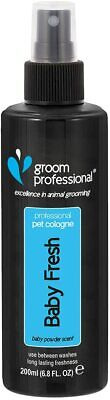 GROOM PROFESSIONAL Baby Fresh Pet Cologne, Pet Smell Remover, Dog Grooming 200ml • 8.99£