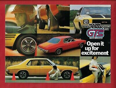 AU25 • Buy Holden Hq Monaro Gts 2 & 4 Door 4 Page Brochure March 1973