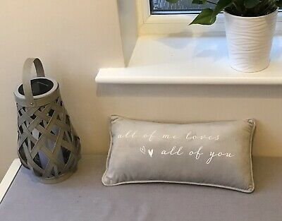 All Of Me Loves All Of You Grey Plush Cushion Gift Home Decor  Mother's Day • 10.95£