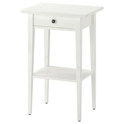 Brand NEW Ikea HEMNES Nightstand Bed Side Table, White Stained, P/N: 202.004.56 • 63.68£
