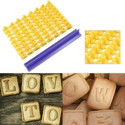 72pc Alphabet Number Letter Cookie Biscuit Stamp Cutter Embosser Cake Mould Tool • 2.99£