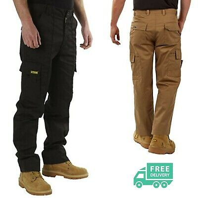 £13.99 • Buy Mens Cargo Combat Work Trousers By SITE KING Size 32 To 40; Black, Navy, Khaki