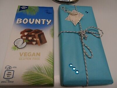 100g  New VEGAN BOUNTY Coconut  Chocolate Bar *Gift Wrapped* Present  Birthday • 6.45£
