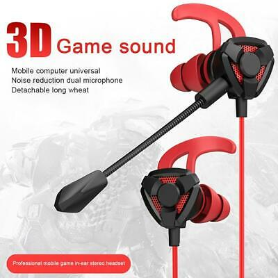 AU12.95 • Buy Gaming Wired Earphone 3.5mm Headset Helmets With Mic Headphones For PS4 PUBG Vol